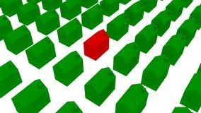 En uppehåll av ekologiska hus - illustration 3D Royaltyfri Foto