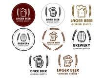 en uppsättning av öl logos_2 vektor illustrationer