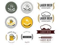 En uppsättning av öllogoer royaltyfri illustrationer