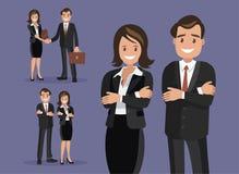 En uppsättning av affärsparsymboler av en man och en kvinna Arkivbilder