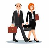 En uppsättning av affärsparsymboler av en man och en kvinna Arkivfoto