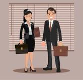 En uppsättning av affärsparsymboler av en man och en kvinna Arkivfoton