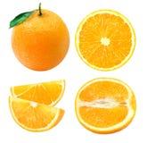 En uppsättning av apelsiner Arkivfoto