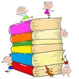 En uppsättning av böcker, spela för barn vektor Royaltyfria Foton