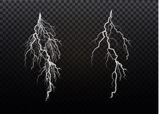 En uppsättning av blixtmagi och ljusa ljusa effekter också vektor för coreldrawillustration Elektrisk ström för urladdning Laddni stock illustrationer