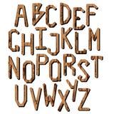 En uppsättning av bokstäver mång- gladlynt färgade engelska bokstäver för alfabet Arkivbild