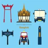 En uppsättning av den Bangkok stadssymbolen Arkivfoto
