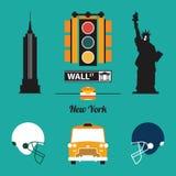 En uppsättning av den New York City symbolen Royaltyfri Fotografi