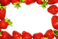 En uppsättning av den nya jordgubben som isoleras på vit bakgrund Fotografering för Bildbyråer