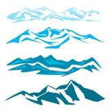 En uppsättning av flera berg Arkivfoton