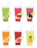 Frukt icons1 Arkivbild