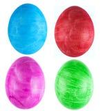 En uppsättning av fyra isolerade ägg Royaltyfri Fotografi