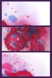 En uppsättning av härliga vattenfärgbakgrunder Arkivfoton