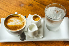 En uppsättning av kaffe Arkivbilder