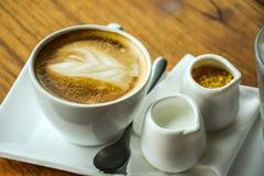En uppsättning av kaffe Arkivfoton