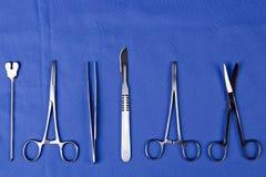En uppsättning av kirurgiskt Royaltyfria Bilder