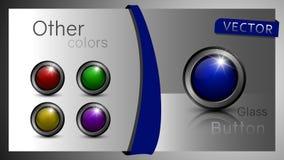 En uppsättning av knappar - vektor royaltyfri illustrationer