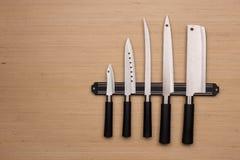 En uppsättning av knivar royaltyfria foton