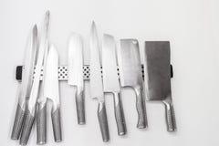 En uppsättning av knivar Royaltyfri Fotografi