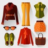 En uppsättning av kvinnors kläder Royaltyfri Foto