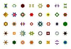 En uppsättning av logoer, symboler och grafiska beståndsdelar Royaltyfria Foton