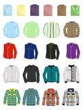 En uppsättning av mäns skjortor Arkivbilder
