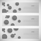 En uppsättning av moderna vektorbaner stock illustrationer