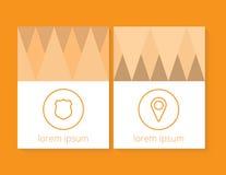 En uppsättning av moderna vektorbaner med polygonal bakgrund Royaltyfri Bild
