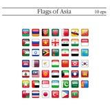 En uppsättning av ovala emblem för flaggor askfat 10 eps royaltyfri illustrationer