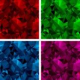 En uppsättning av polygonal bakgrunder 3 Arkivfoto