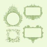 En uppsättning av prydnader av olika former med utrymme för text Den kaotiska och täta fyllningformen en abstrakt modell Royaltyfria Foton