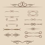En uppsättning av ramar, prydnader märker för text och rengöringsduk i vektor Royaltyfria Bilder