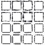 En uppsättning av rektangulär ram sexton Arkivbilder