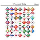 En uppsättning av rombformade symbolsflaggor askfat 10 eps stock illustrationer