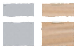 En uppsättning av sönderrivet rivit sönder papper två royaltyfri fotografi