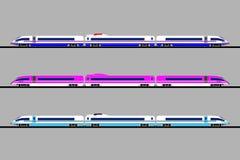 En uppsättning av snabba drev av olika färger på en grå bakgrund bakgrunds- och färgbroschyr vektor illustrationer