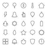 En uppsättning av standart minimalistic redigera för symboler för översikt snabb och lätt, Vektor för rengöringsdukdiagram och re stock illustrationer