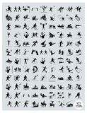 En uppsättning av svart och Gray Sport Icons Fotografering för Bildbyråer