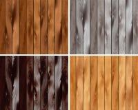 En uppsättning av trä texturerar Arkivfoto