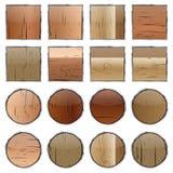 En uppsättning av träknappar, vektor Arkivfoton