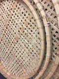 En uppsättning av vävde cirklar bakgrund och texturer Arkivbilder
