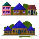 En uppsättning av hus Royaltyfria Foton