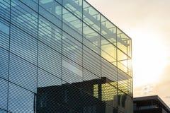 En urbana di architettura della città commerciale moderna di vetro alta di affari Fotografie Stock Libere da Diritti