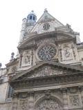 En ursnygg kyrklig byggnad nära le Panthéon, Paris royaltyfri bild