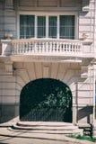 En utsmyckad balkong royaltyfri foto