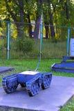 En utställning av sovjetiska robotar som handlade med spillror Fotografering för Bildbyråer