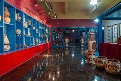 En utställning för museum för Rongchang Chongqing Rongchang krukmakerikrukmakeri Royaltyfri Fotografi
