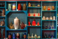 En utställning för museum för Rongchang Chongqing Rongchang krukmakerikrukmakeri Arkivbild