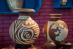 En utställning för museum för Rongchang Chongqing Rongchang krukmakerikrukmakeri Arkivbilder