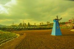 En väderkvarn i huangshan som är västra av huangshan, anhui landskap Arkivfoto